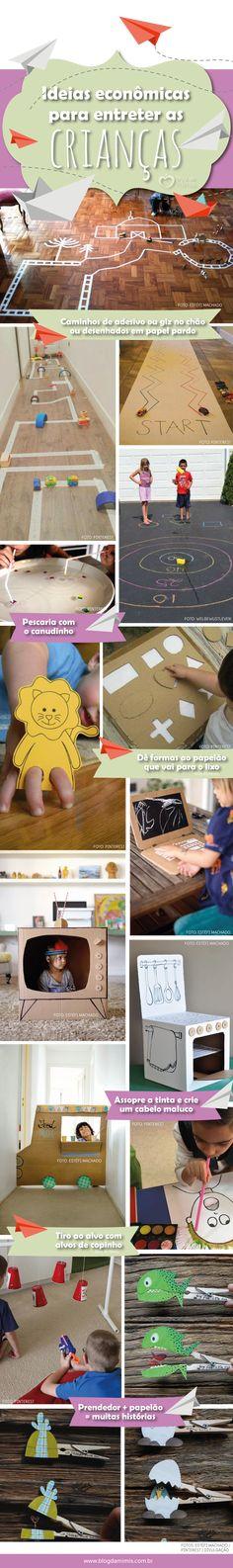 Ideias econômicas para entreter as crianças - Blog da Mimis