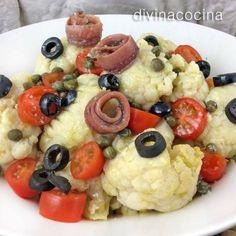 Ensalada de coliflor mediterránea < Divina Cocina