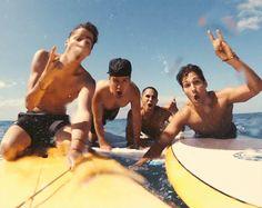 surfing, boys, gif