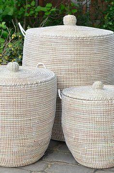 braided laundry basket in white . braided laundry basket in white . braided laundry basket in wh Rattan Outdoor Furniture, Porch Furniture, Home Decor Baskets, Basket Decoration, Crate Decor, Decoration Originale, Storage Baskets, Textiles, Wicker