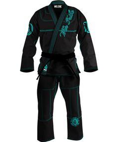 Martial arts training gear, and accessories WAR TRIBE WOMEN'S GI BLACK/TEAL Jiu Jitsu Judo