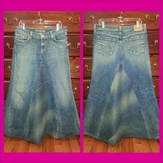 . Jeans Skirt #2dayslook #susan257892 #JeansSkirt www.2dayslook.com