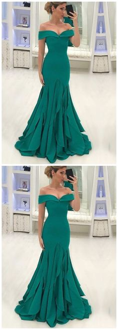 Green Off Shoulder Sleeveless Satin Prom Dresses Mermaid Evening Dresses  by Ai prom dresses, $140.43 USD Classy Prom Dresses, A Line Prom Dresses, Mermaid Evening Dresses, Junior Bridesmaid Dresses, Cheap Prom Dresses, Girls Dresses, Flower Girl Dresses, Party Dresses, Dresses Dresses