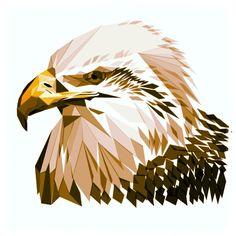 Geometric Photoshop Drawing of Eagle Bird