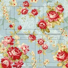 Vintage rose box printable