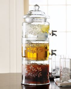 Horchow drink dispenser// I want this for honey, agave nectar and something else.