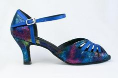 821f3d5b09c6 Diane - Blue and multi-coloured Ladies  Latin Dance Shoe