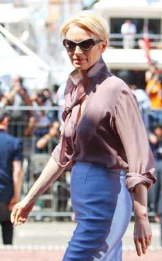 SWINTON and her shades!