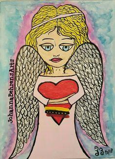 Angel de la guardia, dulce compañía.. Arte Johanna Behrens  Arte terapia intuitiva  #johannabehrensarts #angeles  #esportivenezuela  Behrensjoha3.wixsite.com/johannabehrensarts