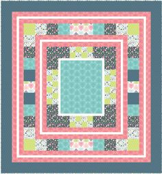 Free Projects | Border Blast Quilt by The Quilted Button | Love Letters by Jane Farnham for Camelot Fabrics
