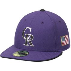 6ba40afb8e2 Colorado Rockies New Era Authentic Collection Low Profile On-Field US Flag 59FIFTY  Fitted Hat - Purple