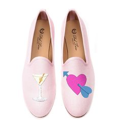 Del Toro M'O Exclusive #drunkinlove Loafer In Pink ($340) ❤ liked on Polyvore featuring shoes, loafers, pink, slip on loafer, loafer shoes, del toro, del toro loafers and pink loafers