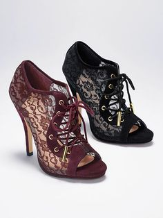 Lace Peep-toe Bootie VS Collection - Ruby Wine - VG-302-324