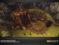 Environment Art inspired by Blizzard's World of Warcraft (Heyman, M., 2010-2012)