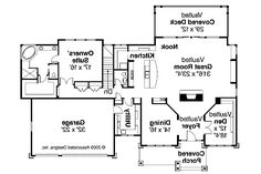 Craftsman House Plan - Pacifica 30-683 - 1st Floor Plan