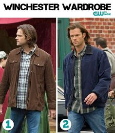 Sam, Supernatural -- two outfits, non plaid is not an option Sam Winchester Outfit, Supernatural Sam Winchester, Jensen And Misha, Jensen Ackles, Supernatural Fashion, Men Of Letters, Super Natural, Jared Padalecki, Cool Costumes