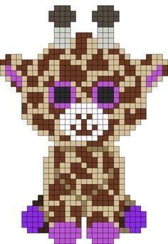 Beanie Boo Giraffe perler pattern by indidolph