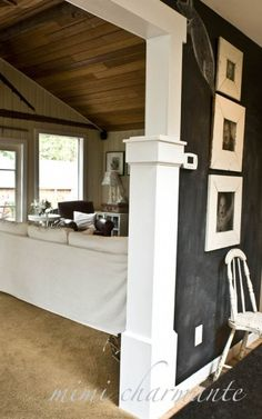 brilliant idea for beach cottage with kids!  a chalkboard wall