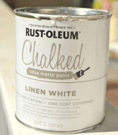 DIY Painted Kitchen Cabinets: Chalk Paint! Rust-Oleum Chalked paint helped us turn our dark kitchen cabinets into a new beauty white kitchen! #ladyandthedachshund  https://www.ladyandthedachshund.com/chalk-paint-kitchen-cabinets/