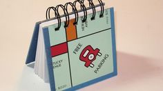 recycled Monopoly Board Game notebook