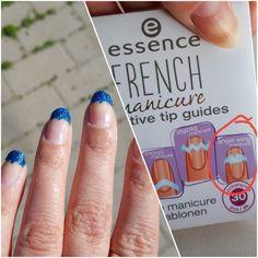 Kynsitaide. Essence french manicure creative tip guides. Essence kynsilakka. Essence holo rainbow sininen tokmannilta