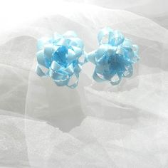 Blue Mini Gift Bows by beautifulswagstore on Etsy, $2.50 #teamdream #teamsellit #coupon SPRING 40% off
