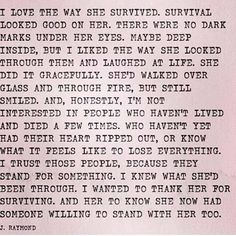 To all of the survivors. And to those still fighting. <3