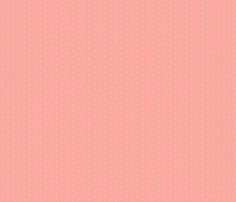 Tiny Dot - Coral fabric by jenniferstuartdesign on Spoonflower - custom fabric