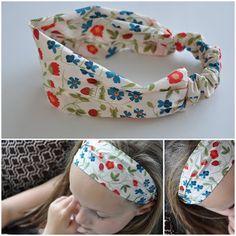 Haarbandje naaien van restje stof  - stap voor stap
