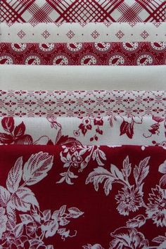 Gallery in Red, Red/White Fat Quarter Bundle (7) Marcus Fabrics