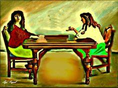 لوحة من اعمال التشكيلية الفلسطينية اية رجب 64