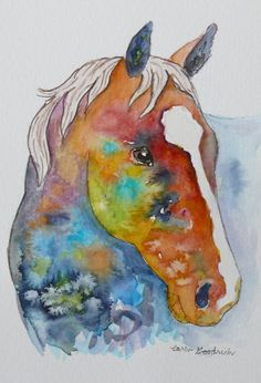 Watercolour Horse Portraits - PicsAnt