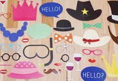 Quick and easy, these free printable photobooth props will make your next get-together a hit with your guests.