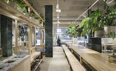 Holy greens is a restaurant interior project with an innovative set of custom furniture designed with the ambition of bringing people together Custom Furniture, Furniture Design, Holi, Restaurant, Studio, Architecture, Interior, Stockholm Sweden, Home Decor