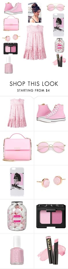 """color crush: pink🐖"" by kiwi01 ❤ liked on Polyvore featuring Alexander McQueen, Converse, Givenchy, Pernille Corydon, Farhi by Nicole Farhi, NARS Cosmetics, Essie and L.A. Girl"