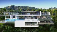 Stunning | #modern #luxury #mansion | Sunset Plaza Drive