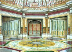 Capitolium friends share this magnificent illustration of the Domus Aurea of Nero in Rome.