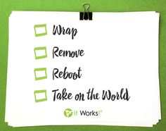 Are you ready to take on the world?! #WrapRemoveReboot