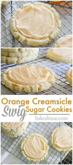 """Orange Creamsicle """"Swig"""" Sugar Cookies - Baked in AZ"""