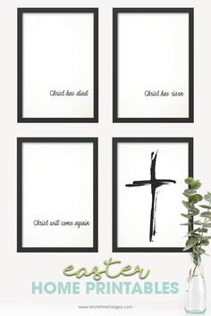 Easter Home Decor | Free Printable download | Easter Story Printable | Christ has died, Christ has risen