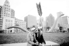 Engagement photo's at the Ferry building