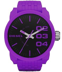Purple Diesel watch !!!! Im so in love with this i want it more than anything !!#birthday #bettergetit :)