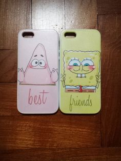 Cute Patrick and Spongebob Best Friends Case available for Iphone 4/4S/5/5S/5C/S3/S4/Note 3! on Etsy, $21.97 I want these @Brooke Greathouse