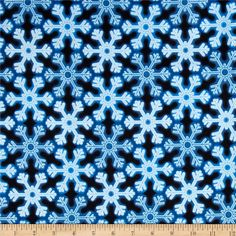Kanvas Holiday Christmas Lights Snowflake Glow Blue from @fabricdotcom  Designed by Maria Kalinowski of Kanvas for Benartex Fabrics, this cotton print is perfect for quilting, apparel and home decor accents. Colors include blue and white.