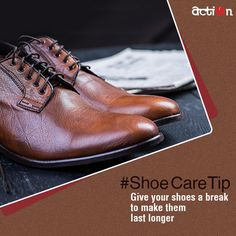 #ShoeCareTip: If you want your fine leather shoes to last longer, never wear them for two consecutive days.