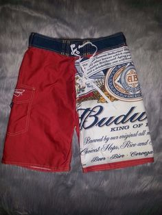 8ddc85af09da8 Vintage Budweiser Beer Men's Size 30 Board Shorts Swim Trunks Swimsuit  Anheuser | eBay Swim Shorts