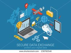 Flat 3d web isometric online safety, data protection, secure connection, cryptography, antivirus. Firewall, cloud file exchange, internet security, wireless access, VPN infographic concept vector.
