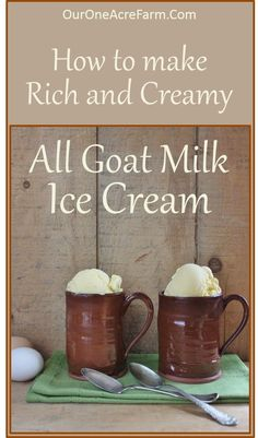 You CAN make rich and creamy goat milk ice cream, without any cow milk products! Read about the interesting tricks used here, and use these recipes to make BOTH vanilla and chocolate goat milk ice cream!