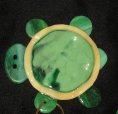 Fused Glass Turtle Ornament