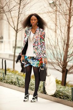 NY Street Style.....Unmix and Match Florals